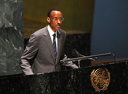 NEW YORK, June 8, 2011  Rwandan President Paul Kagame speaks during the high level meeting on HIV/AIDS at UN headquarters in New York, the United States, June 8, 2011. The UN General Assembly on Wednesday kicked off a three-day high level meeting on HIV/AIDS, which is expected to provide an opportunity to take stock of the progress and challenges of the last 30 years and shape the future of AIDS response. (Credit Image: © Xinhua via ZUMA Wire)