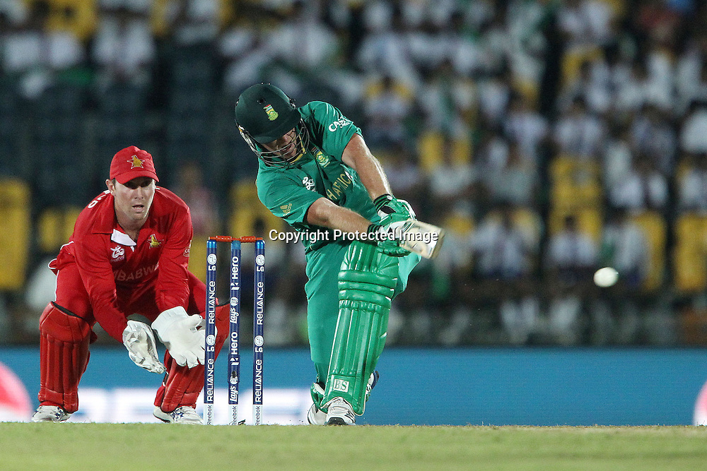 Richard Levi during the ICC World Twenty20 Pool C match between South Africa and Zimbabwe held at the MAHINDA RAJAPAKSA INTERNATIONAL CRICKET STADIUM in Hambantota, Sri Lanka on the 20th September 2012<br /> <br /> Photo by Ron Gaunt/SPORTZPICS
