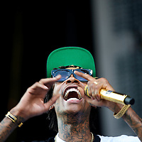 Wiz Khalifa performs at the Budweiser Made in America Music Festival in Philadelphia, PA on September 1, 2013.