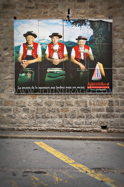 Photo Of A Poster For Appenzeller Cheese In Appenzell