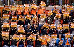 31-05-2015 NED: CEV EK Kwalificatie Nederland - Spanje, Doetinchem<br /> Nederland wint met 3-1 van Spanje en plaatst zich voor het EK in Bulgarije en Italie / Topsporthal Doetinchem volledig uitverkocht, ambassadeurs