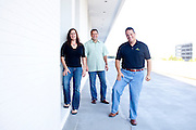 Kabbage Co-Founders Marc Gorlin (green), Kathryn Petralia, and CEO Rob Frohwein pose outside of their Atlanta, Georgia office September 12, 2011. Kabbage helps fund online businesses...Kendrick Brinson/LUCEO