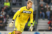 Wigan goalkeeper Jussi Jaaskelainen during the EFL Sky Bet Championship match between Derby County and Wigan Athletic at the iPro Stadium, Derby, England on 31 December 2016. Photo by Aaron  Lupton.