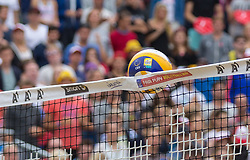 02.08.2015, Strandbad, Klagenfurt, AUT, A1 Beachvolleyball EM 2015, kleines Finale Herren, im Bild unforced // during 3rd Place Match Men, of the A1 Beachvolleyball European Championship at the Strandbad Klagenfurt, Austria on 2015/08/02. EXPA Pictures © 2015, EXPA Pictures © 2015, PhotoCredit: EXPA/ Mag. Gert Steinthaler