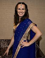 Champions Tennis League 2015, Players Party,Martina Hingis (SUI) in einem Sari,<br /> <br /> Tennis - Champions Tennis League 2015 -  -   - Mumbai - Maharashtra - India  - 23 November 2015. <br /> &copy; Juergen Hasenkopf