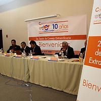 Toluca, Mex.- El Partido Convergencia concluyo los trabajos de su congreso estatal, en el que se establecieron las lineas de acción para los candidatos a diputados y presidentes municipales que contienden en el actual proceso electoral. Agencia MVT / Crisanta Espinosa. (DIGITAL)