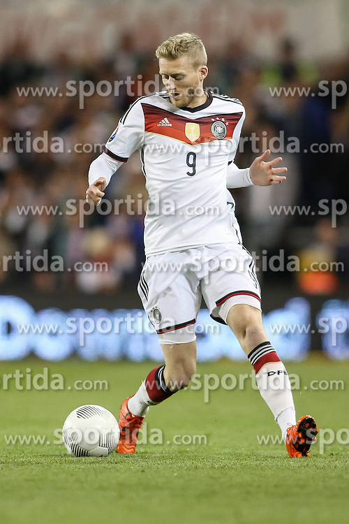 08.10.2015, Avia Stadium, Dublin, IRL, UEFA Euro Qualifikation, Irland vs Deutschland, Gruppe D, im Bild Andre Schuerrle (VfL Wolfsburg #9) // during the UEFA EURO 2016 qualifier group D match between Ireland and Germany at the Avia Stadium in Dublin, Ireland on 2015/10/08. EXPA Pictures &copy; 2015, PhotoCredit: EXPA/ Eibner-Pressefoto/ Risto Bozovic<br /> <br /> *****ATTENTION - OUT of GER*****
