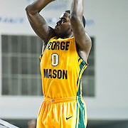 02/01/12 Newark DE: George Mason Sophomore Guard Bryon Allen #0 attempts a long range shot during a Colonial Athletic Association conference Basketball Game against Delaware Wed, Feb. 1, 2012 at the Bob Carpenter Center in Newark Delaware.