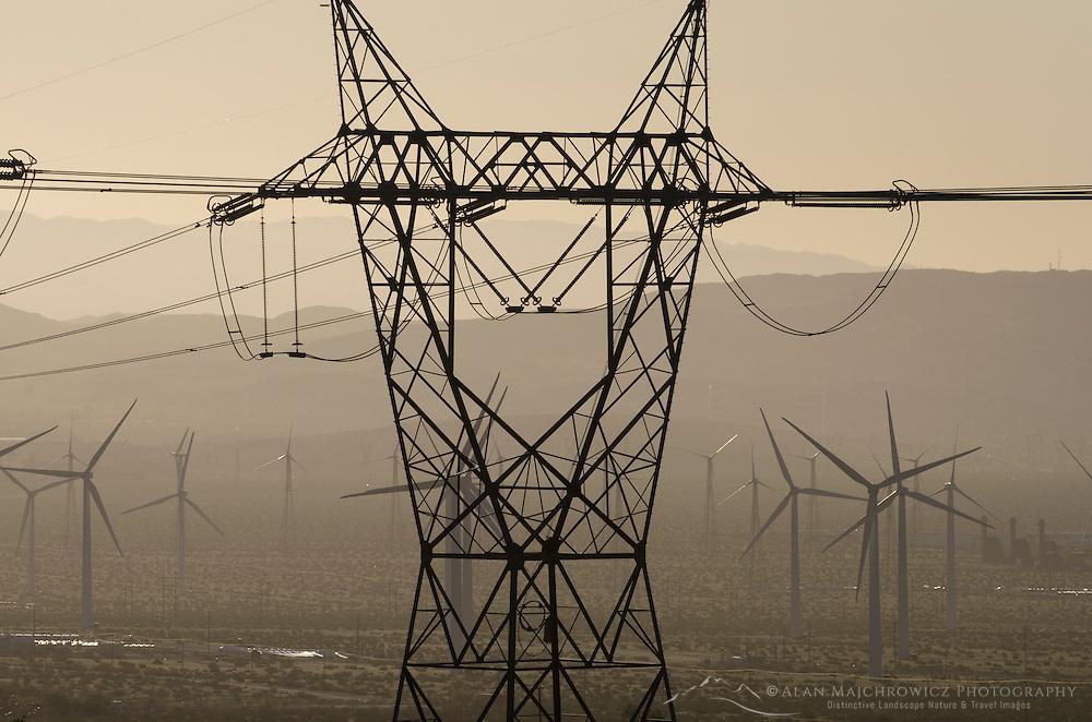 Wind Turbines at San Gorgonio Pass, California
