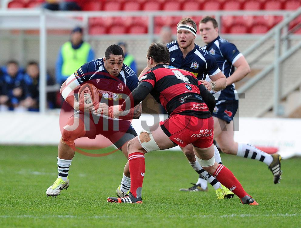Bristol Rugby Prop Anthony Perenise  - Mandatory byline: Joe Meredith/JMP - 05/12/2015 - RUGBY - Billesley Common - Birmingham, England - Moseley v Bristol Rugby - Greene King IPA Championship