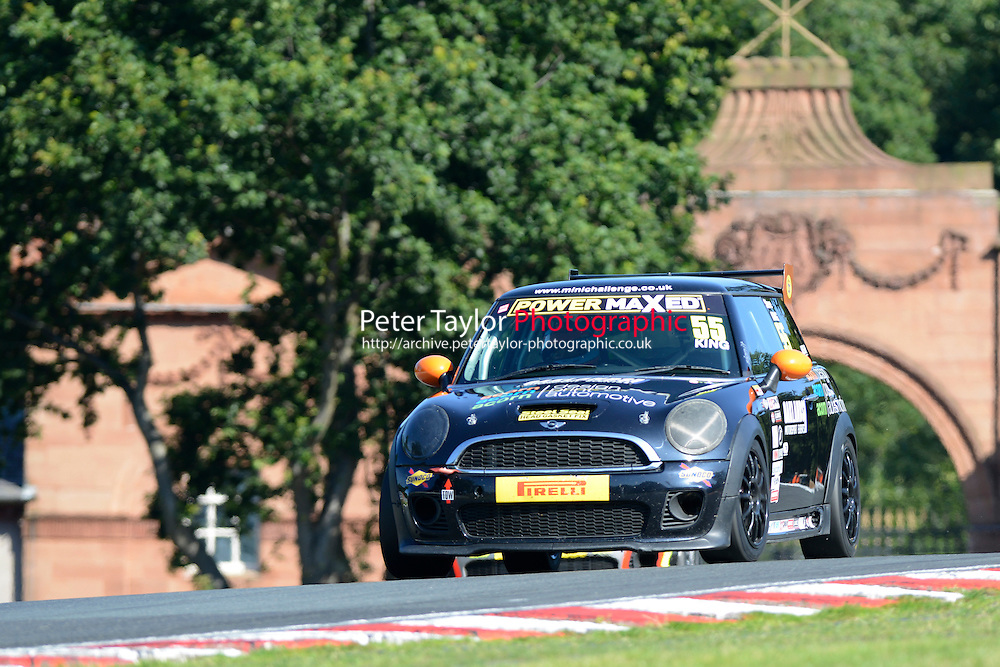 #55 Steve King Mini JWC during Power Maxed Mini Challenge - F56/JCW - Qualifying  as part of the Mini Festival  at Oulton Park, Little Budworth, Cheshire, United Kingdom. August 08 2015. World Copyright Peter Taylor. Copy of publication required for printed pictures.  Every used picture is fee-liable. http://archive.petertaylor-photographic.co.uk