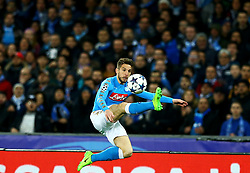March 7, 2017 - Naples, Italy - Napoli's forward from Belgium Dries Mertens  during the UEFA Champions League football match SSC Napoli vs Real Madrid on March 7, 2017 at the San Paolo stadium in Naples. (Credit Image: © Matteo Ciambelli/NurPhoto via ZUMA Press)