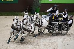 Dobrovitz Jozsef , HUN, Incitato Pandur, Kiskedves, Platon, Pottom<br /> FEI World Cup Driving<br /> CHI de Genève 2016<br /> © Hippo Foto - Dirk Caremans<br /> 11/12/2016