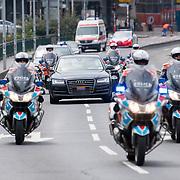 LUX/Luxembug/20180523 - Staatbezoek Luxemburg 2018 dag 1, ere escorte