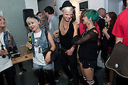 KASIA HANULA;; MIGUEL DARE;  DOROTKA HANULA; , The VICE Photo Exhibition 2009 - private view of an exhibition of work originally published in Vice magazine.. <br /> The Print Space, 74 Kingsland Road, London E2. 12 August 2009