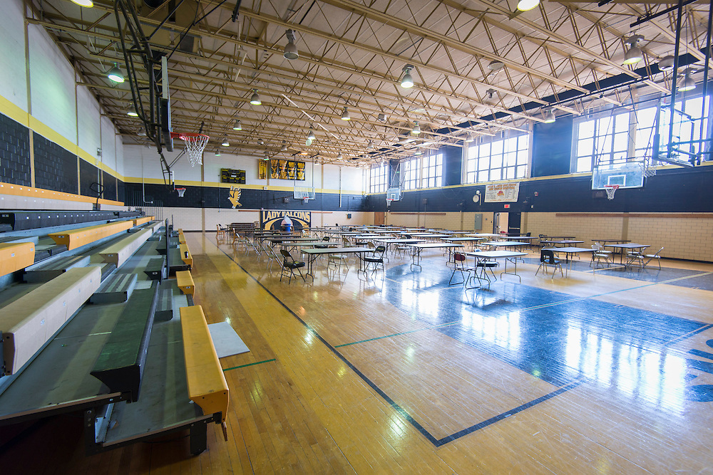 Girls gymnasium at Jones High School, May 14, 2014.