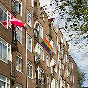 NLD/Amsterdam//20170805 - Gay Pride 2017, Regenboogvlaggen