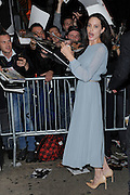 Nov. 3, 2015 - New York, NY, USA - <br /> <br /> Angelina Jolie and Brad Pitt sign arrive outside Cinema 1,2 & 3  to promote By the Sea <br /> ©Exclusivepix Media
