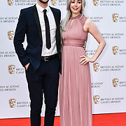 Ali-A and Claire Arrivers at the British Academy (BAFTA) Games Awards at Queen Elizabeth Hall, Southbank Centre  on 4 March 2019, London, UK.