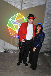 MARK STEPHENS and his wife DONNA at the Contemporary Art Society's Gala evening held at the Farmiloe Buildings, St.John Street, London EC1 on 29th February 2012.