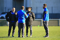 Shaun SOWERBY / Stephane GLAS / Didier BES / Jake WHITE - nouveau coach - 31.12.2014 - Rugby - Entrainement Montpellier - Top 14<br />