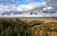 Snake River Overlook in Grand Teton National Park, Wyoming