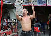 55-year-old Man Walks With Over Fifty-kilogram Stone