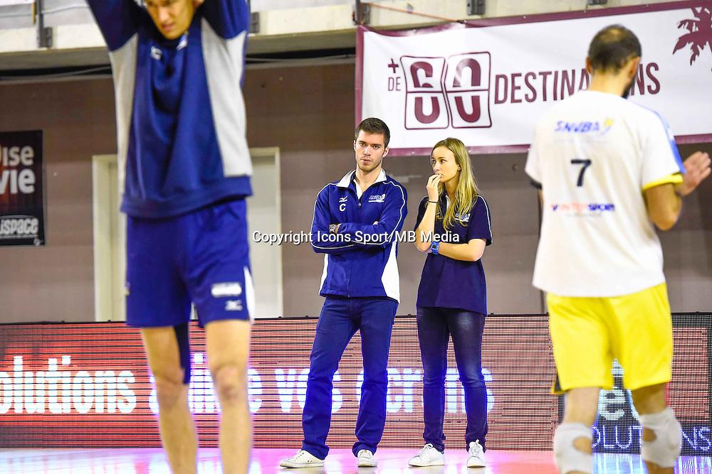 Gilles GOSSELIN / Elodie MILIN  - 19.12.2014 - Beauvais / Saint Nazaire - 12e journee de Ligue A<br />Photo : Fred Porcu / Icon Sport