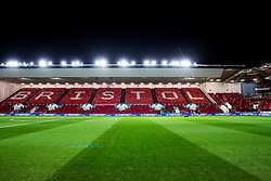General View inside Ashton Gate after the flag display is laid out - Rogan/JMP - 23/01/2018 - Ashton Gate Stadium - Bristol, England - Bristol City v Manchester City - Carabao Cup Semi Final Second Leg.