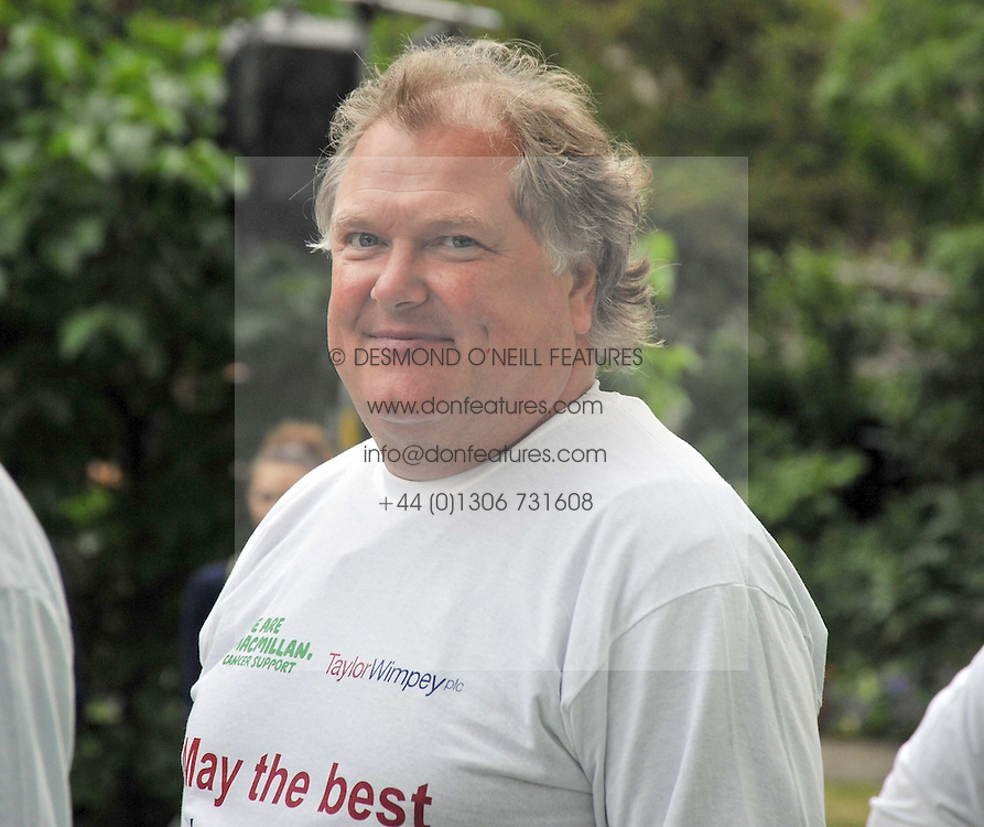 LORD JONES OF BIRMINGHAM the annual House of Lords vs House of Commons Tug of War in aid of Macmillan Cancer Support held in College Garden, Westminster Abbey, London on 9th June 2009.
