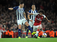 Football - 2017 / 2018 Premier League - Arsenal vs. West Bromwich Albion<br /> <br /> Gareth Barry of WBA making a Premier league record number of appearances, at The Emirates.<br /> <br /> COLORSPORT/ANDREW COWIE