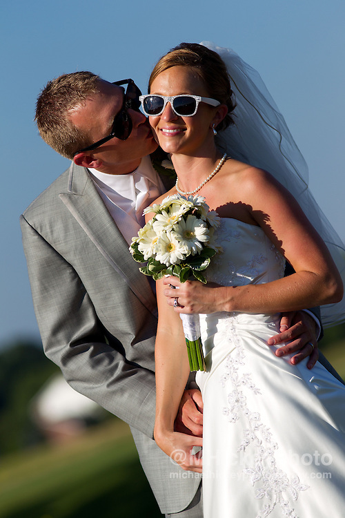 Wedding photography of Tyler Perdue and Jenna Gray in Noblesville, Indiana..Photo by Michael Hickey, wedding photographer