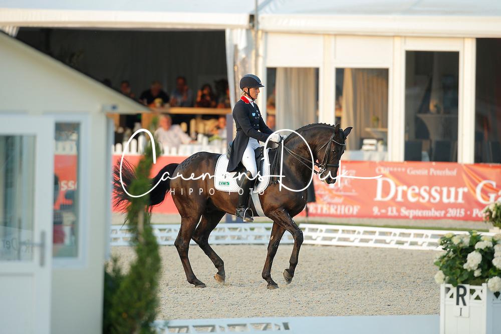 Klimke Ingrid, (GER), Dresden Mann<br /> Grand Prix Freestyle Kür<br /> CDIO Hagen 2015<br /> © Hippo Foto - Stefan Lafrentz