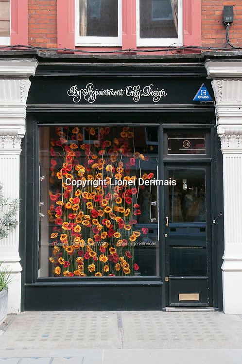Flower shop in Chiltern street, Marylebone, London.