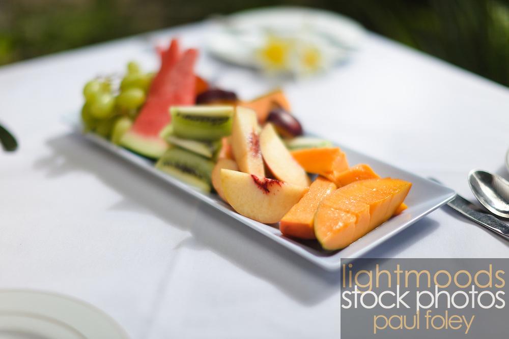 Details of fruit breakfast.