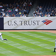 Alex Rodriguez warming up at Yankee Stadium before the New York Yankees V Detroit Tigers Major League Baseball regular season baseball game at Yankee Stadium, The Bronx, New York. 11th August 2013. Photo Tim Clayton