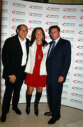 """Left to right, BRUCE OLDFIELD, HEATHER KERZNER and LORD ASHCROFT at a party to celebrate the publication of Bruce Oldfield's autobiography """"Rootless"""" held in aid of Crimestoppers at Claridge's, Brook Street, London W1 on 22nd September 2004.<br /><br />NON EXCLUSIVE - WORLD RIGHTS"""