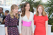 "CANNES, FRANCE - MAY 18:  Hilary Swank (C), Sonja Richter and Miranda Otto attends ""The Homesman"" photocall at the 67th Annual Cannes Film Festival on May 18, 2014 in Cannes, France.  (Photo by Tony Barson/FilmMagic)"