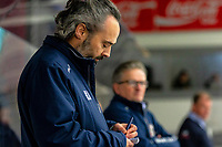 2020-01-22 | Kallinge, Sweden: Halmstad Hammers Assistant Coach Mikael Arnudd during the game between Krif hockey and Halmstad Hammers at Soft Center Arena (Photo by: Jonathan Persson | Swe Press Photo)<br /> <br /> Keywords: kallinge, Ishockey, Icehockey, hockeyettan, allettan södra, soft center arena, krif hockey, halmstad hammers (Match code: krhh200122)