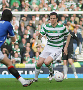 Celtic's Gary Caldwell during the League Cup final between Rangers and Celtic at Hampden Park -<br /> David Young Universal News And Sport