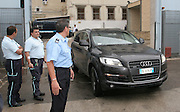 Foto di Donato Fasano Photoagency, nella foto : Giampalo Tarantini leaves the prison of Bari, house arrest in Rome, in his Audi Q7 sits behind the passenger.cerca