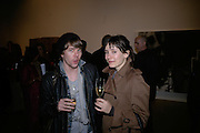 Ian Davis and Skye Sherwin, Other,Riyas Komu and Peter Drake. - VIP  launch of Aicon. London's largest contemporary Indian art gallery. Heddon st. and afterwards at Momo.15 Marc h 2007.  -DO NOT ARCHIVE-© Copyright Photograph by Dafydd Jones. 248 Clapham Rd. London SW9 0PZ. Tel 0207 820 0771. www.dafjones.com.