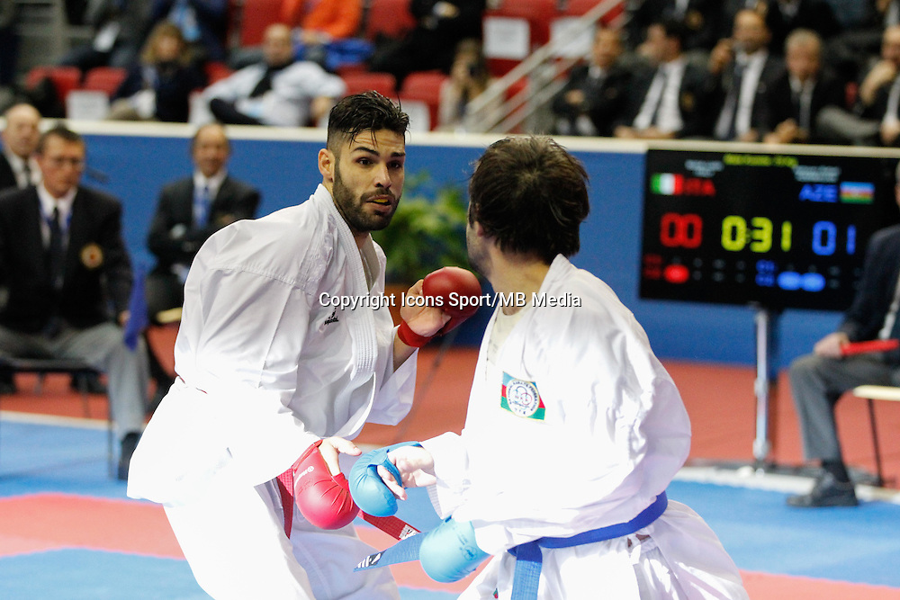 Luigi BUSA / Rafael AGHAYEV - 24.01.2015 - Open de Paris - Karate Premier League -<br />