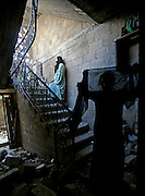 Palestinian women assesing the damage to their home that was bstruck early Wed. morning by IDF artillery shells in the northern Gaza town of Beit Hanoun Nov.8,2006. At least nineteen were killed ,mostly women and children in the attack. (Photo by Heidi Levine/Sipa Press).