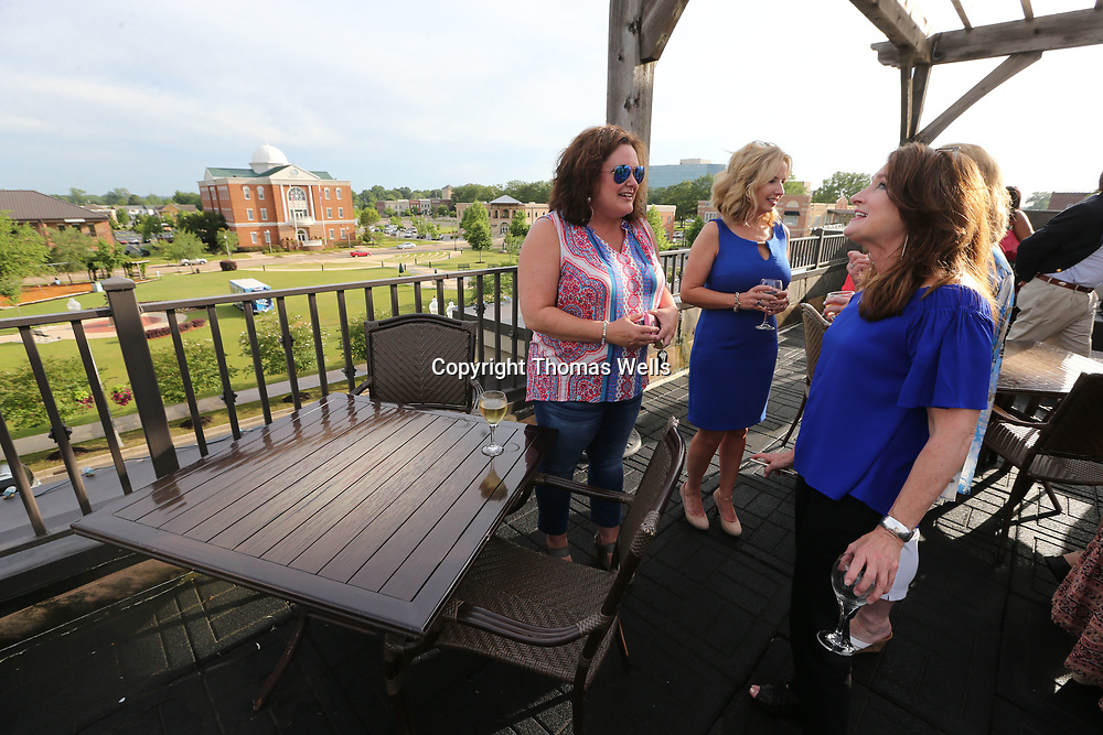"""Louise Gable, left, and Lucia Randle get a few minutes to catch up before the Boys & Girls Club of North Mississippi announce their celebrity dancers for this year's """"Dancing Like the Stars"""" fundraisier."""