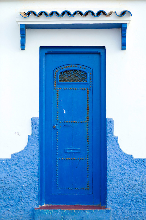 Moroccan door architecture, Asilah, Northern Morocco, 2015-08-11. <br />