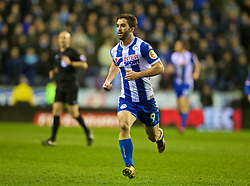 WIGAN, ENGLAND - Monday, February 19, 2018: Wigan Athletic's Will Grigg during the FA Cup 5th Round match between Wigan Athletic FC and Manchester City FC at the DW Stadium. (Pic by David Rawcliffe/Propaganda)
