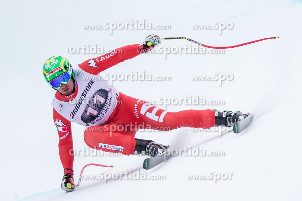 27.02.2015, Kandahar, Garmisch Partenkirchen, GER, FIS Weltcup Ski Alpin, Abfahrt, Herren, 2. Training, im Bild Dominik Paris (ITA) // Dominik Paris of Italy in action during the 2nd trainings run for the men's Downhill of the FIS Ski Alpine World Cup at the Kandahar course, Garmisch Partenkirchen, Germany on 2015/27/02. EXPA Pictures © 2015, PhotoCredit: EXPA/ Johann Groder
