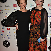 Juliet Stevenson and Rosalind Hannah Brody Arriver at the 18th Annual WhatsOnStage Awards 2018 at Prince of Wales Theatre on 25 Feb 2018, London, UK