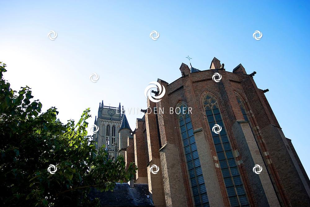 ZALTBOMMEL - De Grote of Sint-Maartenskerk van Zaltbommel is een grote, driebeukige basiliek en geldt als een van de belangrijkste voorbeelden van de Nederrijnse gotiek.<br /> Het oudste deel van de kerk is het 14e eeuwse priesterkoor, dat indertijd gebouwd werd ter uitbreiding van de, tot kapittelkerk verheven voorganger van de huidige kerk. Dit koor is lager dan het schip en wijkt ook qua stijl af van de rest van de kerk, die vanaf ca. 1450 tot stand kwam en in ca. 1500 werd voltooid. De gehele kerk is in steen overwelfd. FOTO LEVIN DEN BOER - PERSFOTO.NU